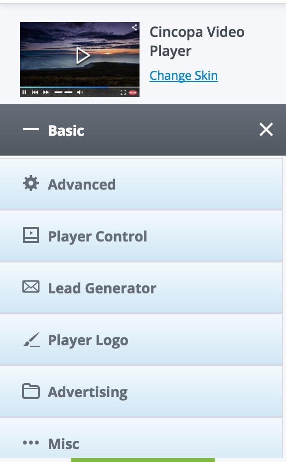 Customization options is screen side bar