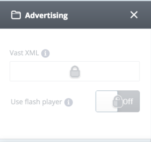 Advertising settings