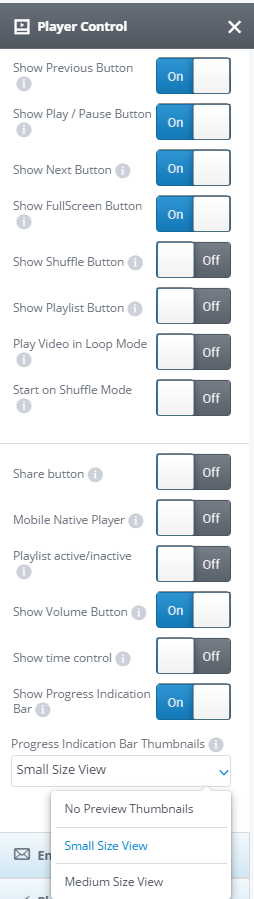"""""""Player control"""" settings"""